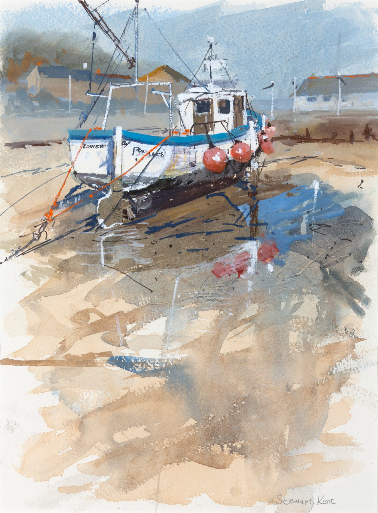 Lowena at Porthlevan by Stewart Kent