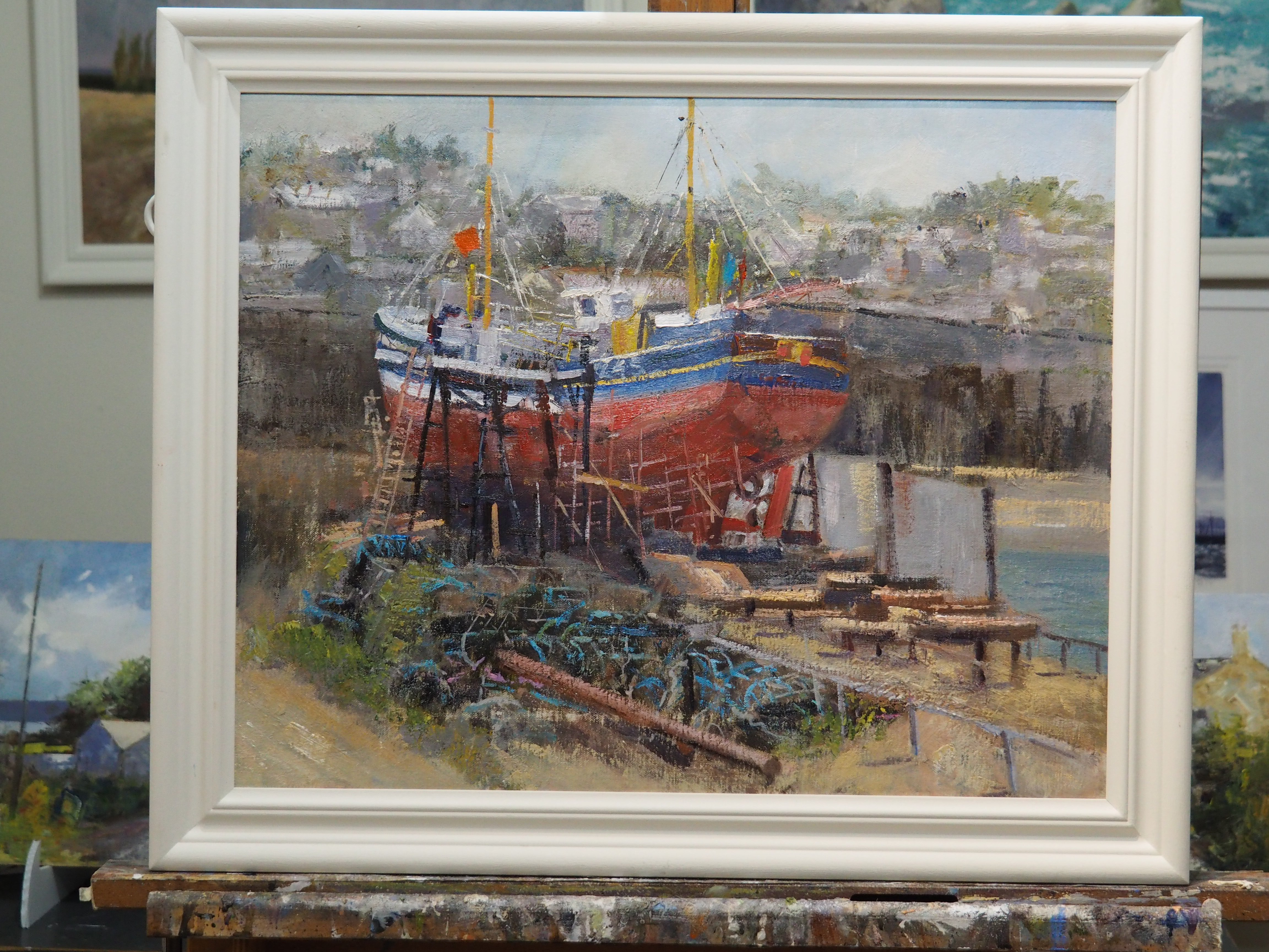 Under repair Newlyn by Stewart Kent